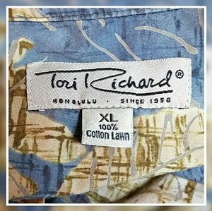 Tori Richard Shirts - Men's Vintage Tori Richard Hawaiian Shirt Yellow
